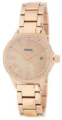 Fossil Women's Blythe Crystal Accented Bracelet Watch, 38mm