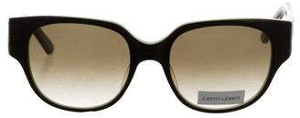 Judith Leiber Jewel-Embellished Gradient Lens Sunglasses