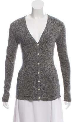 Cacharel Mélange Tweed Knit Cardigan