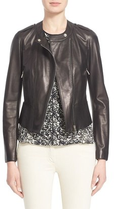 Women's Belstaff 'Whyte' Nappa Leather Moto Jacket $1,995 thestylecure.com