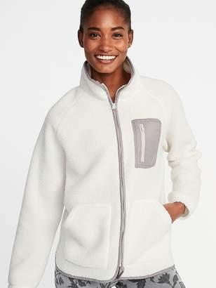 Old Navy Sherpa Zip Jacket for Women