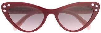 Miu Miu embellished cat eye sunglasses