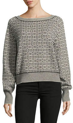 Theory Printed Cashmere Sweater