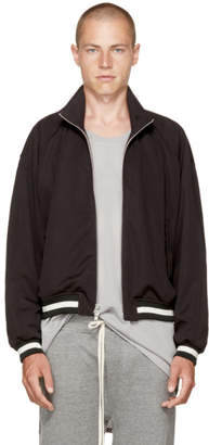 Fear Of God Black Double Knit Track Jacket