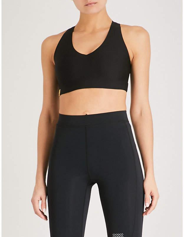 Essential V jersey sports bra
