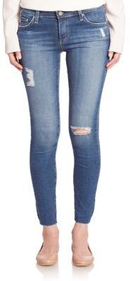AG Distressed Legging Ankle Jeans $235 thestylecure.com