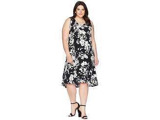 Karen Kane Plus Plus Size High-Low Hem Dress
