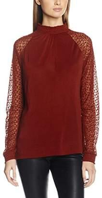 Vero Moda Women's VMLUNA LS HIGH Neck TOP JRS Long Sleeve Top,36 (Manufacturer Size: )