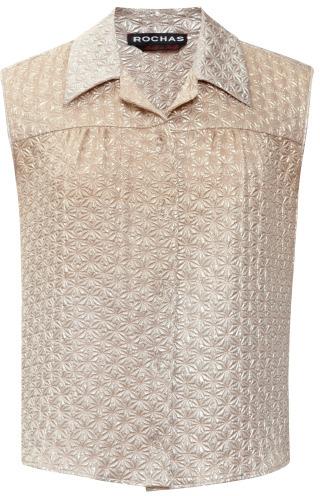 Rochas Degrade Jacquard Silk Sleeveless Top