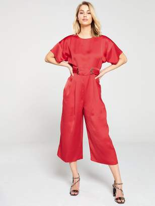 Very Eyelet Kimono Sleeve Jumpsuit - Orange