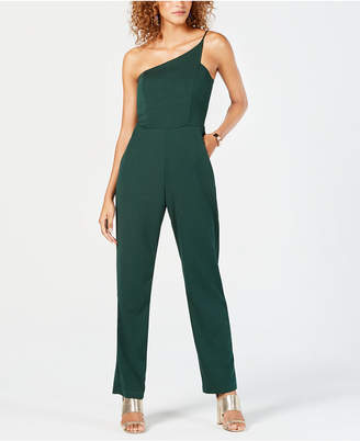 Teeze Me Junior's Asymmetrical One-Shoulder Jumpsuit