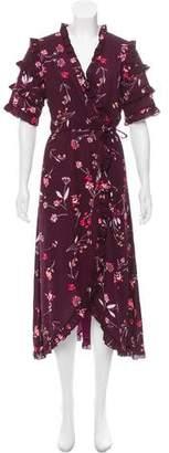 Walter Baker Floral Printed Short Sleeve Dress