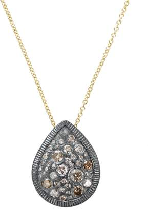 Todd Reed Autumn Mixed Diamond Pear Necklace