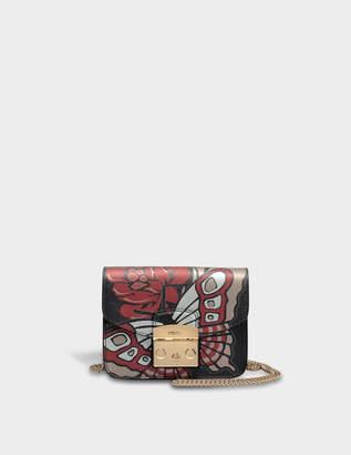 Furla Metropolis Mini Crossbody Bag in Toni Onyx Saffiano Leather
