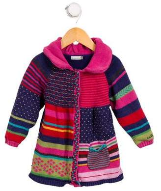 Catimini Girl' Knit Mixed Pattern Cardigan