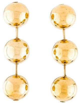 Balenciaga Metal Pearl Drop Earrings