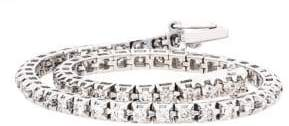 Lord & Taylor 14Kt. White Gold and Diamond Tennis Bracelet