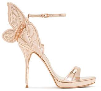 Sophia Webster Butterfly Wing Metallic Leather Sandals