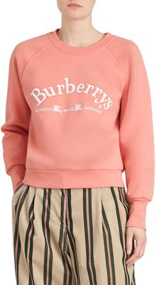 Burberry Battarni Embroidered Logo Sweatshirt