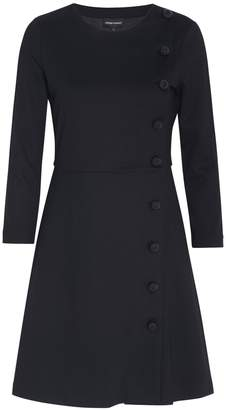 Emporio Armani Side Buttoned Mini Dress