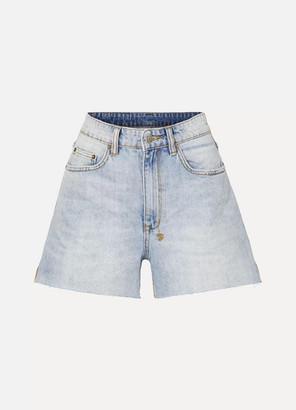Ksubi Frayed Denim Shorts - Mid denim