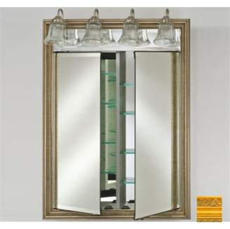Afina Corporation DD-LT3140RCHAGD 31x40 Traditional Integral Lighted Double Door - Chateau Gold