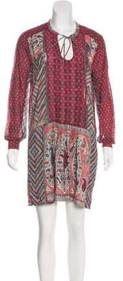 Burning Torch Silk Patterned Dress