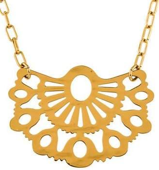 Tory Burch Madura Fan Pendant Necklace