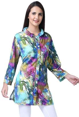 Parsley & Sage Colorful Crinkle Tunic