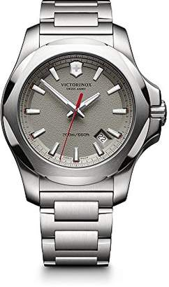 Victorinox Men's 241739.1 I.N.O.X. Watch with Grey Dial and Stainless Steel Bracelet