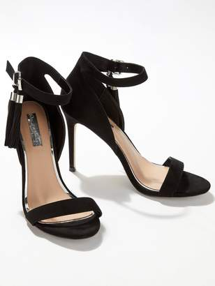 8e6d4059143 Miss Selfridge Tassel Stiletto 2 Strap Heeled Shoes - Black