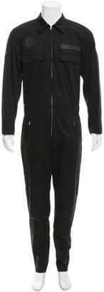 Alexander Wang Leather-Trimmed Coverall Jumpsuit w/ Tags $345 thestylecure.com