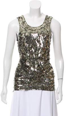 Gryphon Scoop-Neck Sequin Top