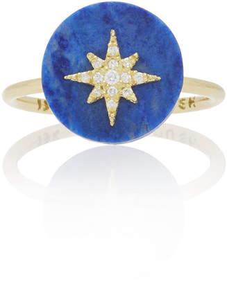 Coexist Noush Jewelry Northstar On Lapis Lazuli Ring