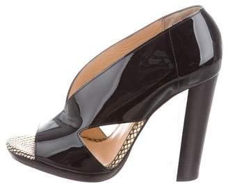 Christian Louboutin Patent Leather Cutout Sandals