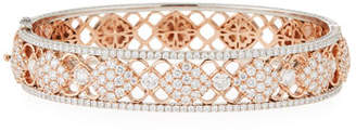 Jack Kelege & Company Filigree Diamond Bangle Bracelet