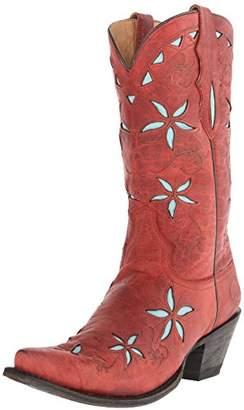 at Amazon com Stetson Women's 13 Inch Flower Underlay Riding Boot