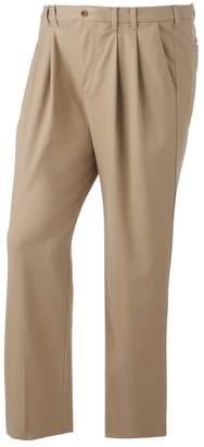 Izod Big & Tall Classic-Fit Sportflex Performance Plus Stretch Double-Pleated Pants