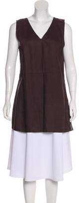 Magaschoni Linen Sleeveless Tunic Top