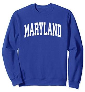 Maryland Crewneck Sweatshirt Sports College Style State Gift