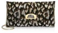 Christian Louboutin Vero Feline Lurex-Knit Shoulder Bag