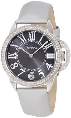 Freelook Women's Quartz Stainless Steel and Satin Casual Watch