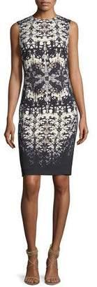 Roberto Cavalli Abstract-Print Sleeveless Fitted Dress