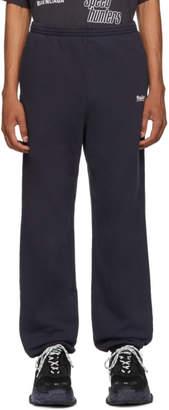 Balenciaga Navy Campaign Logo Lounge Pants