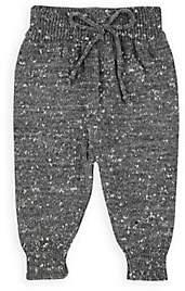 Mini Sibling Infants' Mélange Stockinette-Stitched Pants - Gray