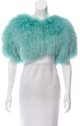 Oscar de la Renta Short Sleeve Fur Bolero w/ Tags