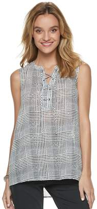 Apt. 9 Women's Lace-Up Georgette Shell Tank