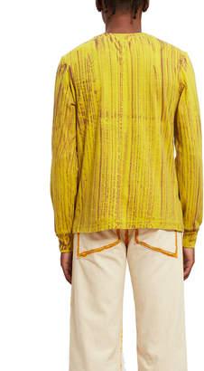 Eckhaus Latta Hand Dyed Lapped Long-Sleeve