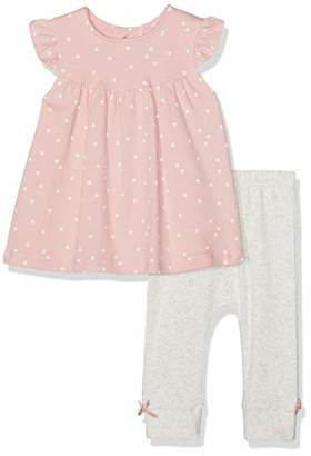 Mamas and Papas Baby Girls' 2pc Spot Top & Legging Clothing Set, (Pink Slia), (Size:)
