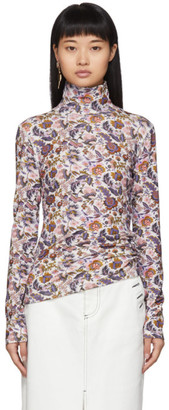 See by Chloe Multicolor Winter Floral Turtleneck